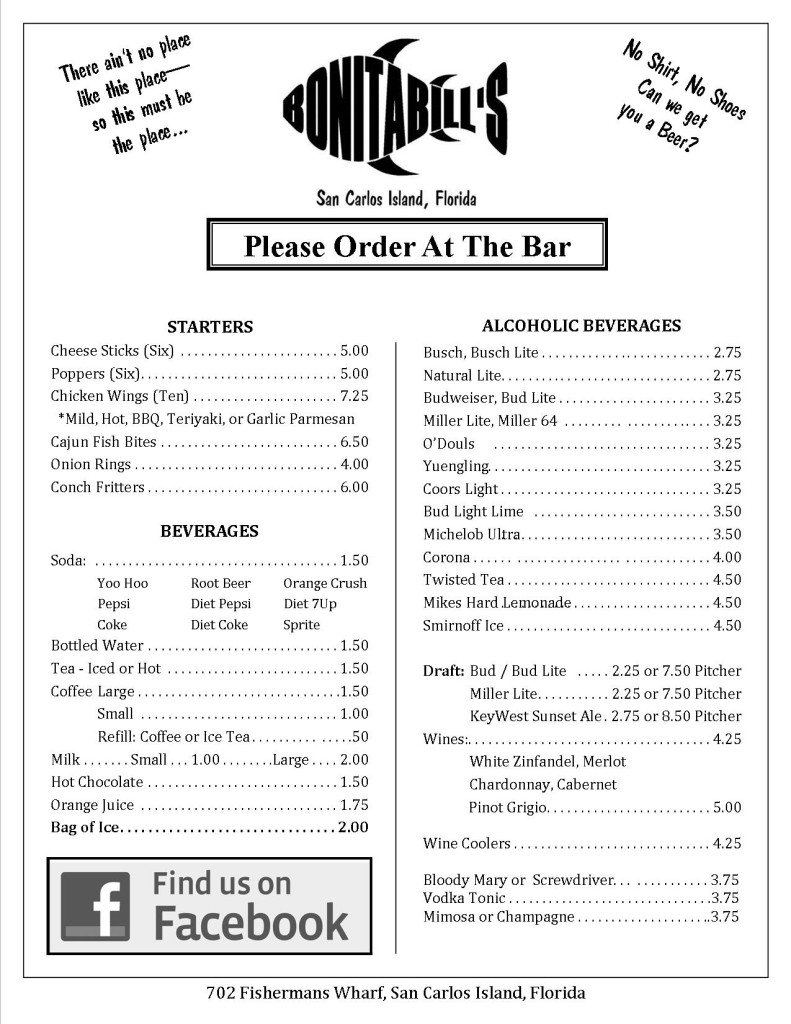 Bill S Cafe Menu With Prices